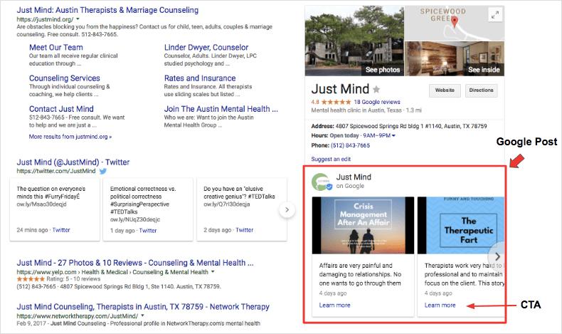 Take advantage of Google Posts