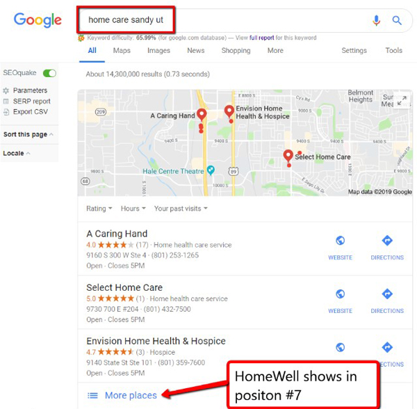 Google Search - Home Care