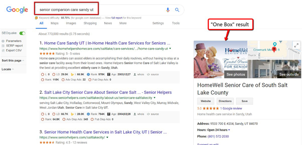 Google Search - Senior Companion Care